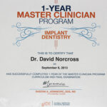 Dr David Norcross Implant Dentistry Qualifications
